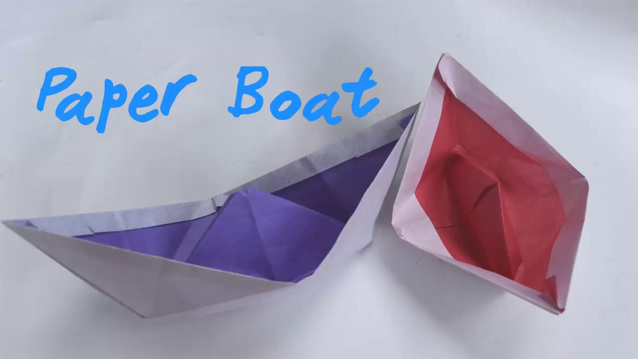 how to make a origami paper boat easy