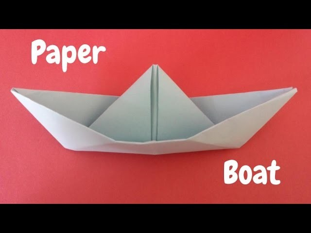 step by step how to make an origami boat
