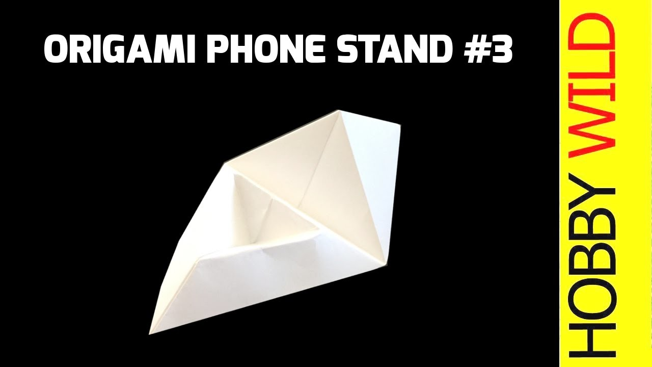 how to make a paper phone stand phone holder design 3