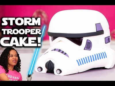 How To Make a Realistic STORMTROOPER HELMET Out Of CHOCOLATE CAKE! Just Like In STAR WARS!