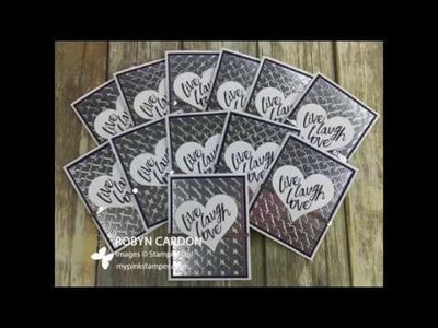 How to Make a Silver Stampin' Up! Layering Love with Eggplant Card - Episode 575