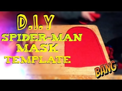 How to Make A Spider-Man Mask Template | Drawing & Cutting the Pattern |