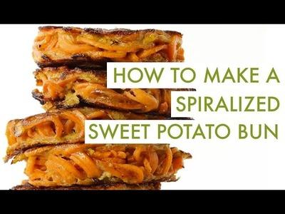 How To Make A Spiralized Sweet Potato Bun | Spiralizer Recipe
