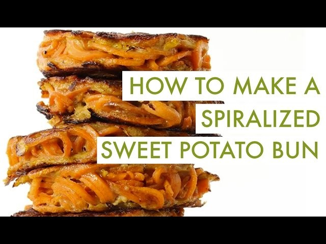 How To Make A Spiralized Sweet Potato Bun | Spiralizer Recipe