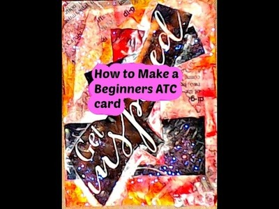 How to Make an Artist Trading Card (ATC) for Beginners with products from home