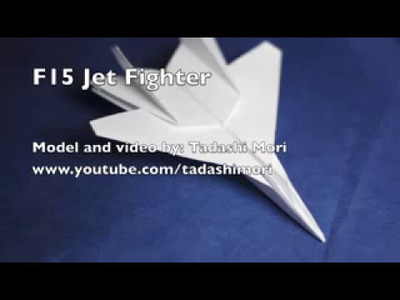 How to make an F15 Eagle Jet Fighter Paper Plane!!!