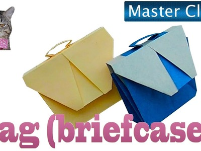 How to make an origami bag (briefcase). Master Class: Handmade Bag