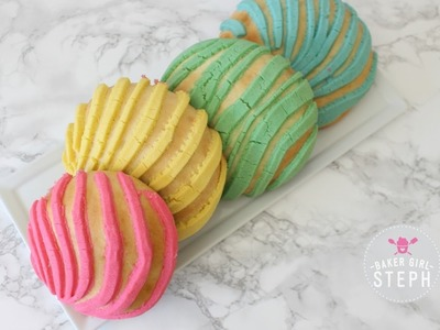 HOW TO MAKE CONCHAS. PAN DULCE. UNICORN CONCHA. MERMAID CONCHA