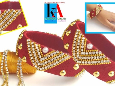 How to make Designer Bridal Silk Thread Bangles. new model silk thread bangles