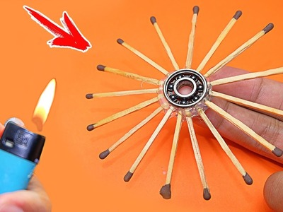 How To Make Fidget Spinner Out of Matches - Amazing Hand Spinner Toys DIY