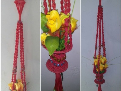 How to make flowers wall hanging very simple design