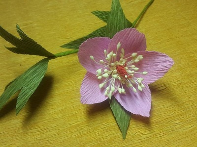 How to Make Hellebore Paper flowers - Flower Making of Crepe Paper - Paper Flower Tutorial