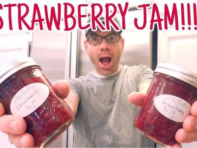 How To Make Homemade Strawberry Jam With NO PECTIN - Easy DIY Strawberry Jam Recipe