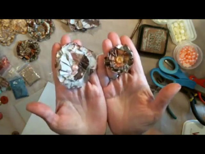 How To Make Junk Journal Flowers