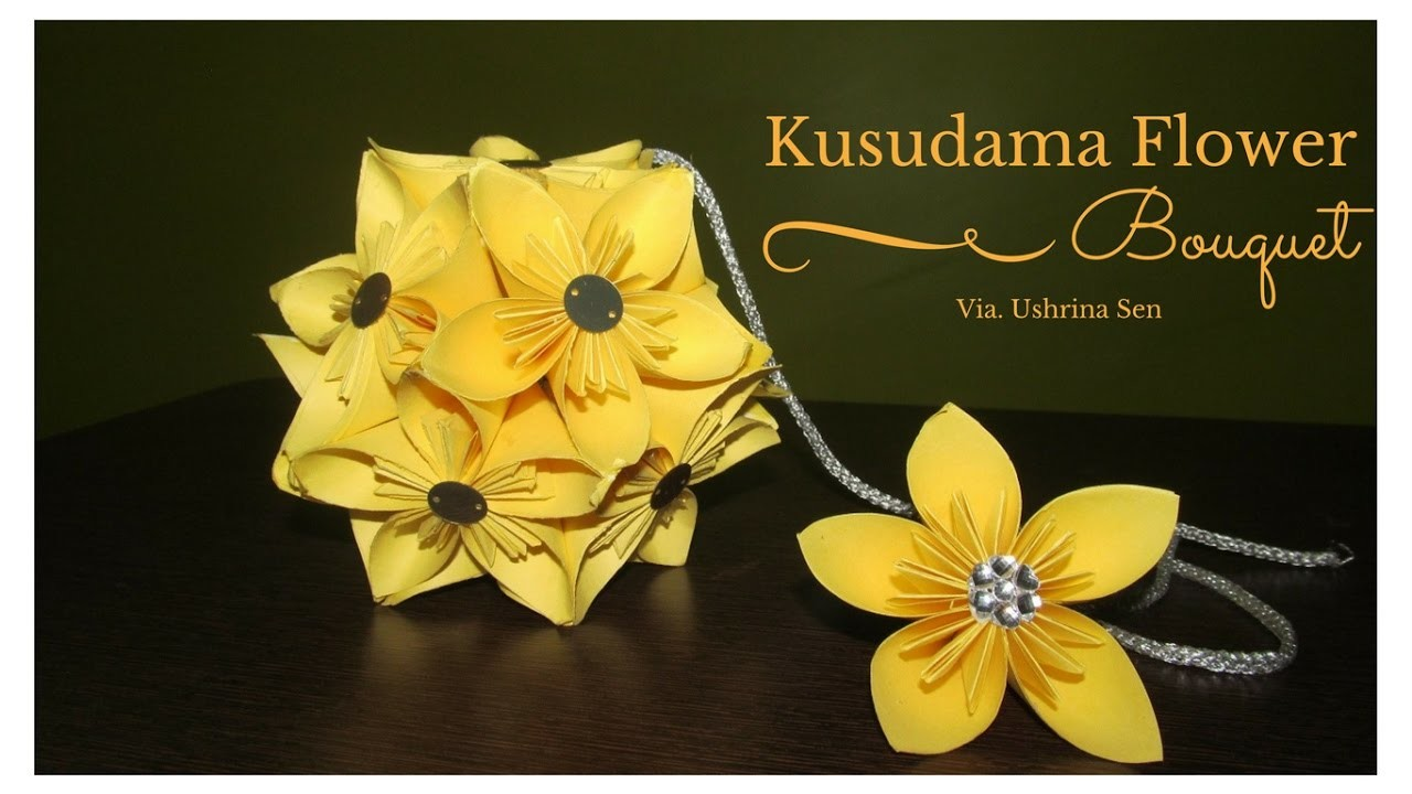How To Make Kusudama Flower Bouquet, My Crafts and DIY Projects