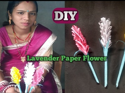 How To Make Lavender Paper Flower || Paper Flowers Tutorial Easy
