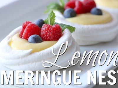 How to Make Lemon Meringue Nests