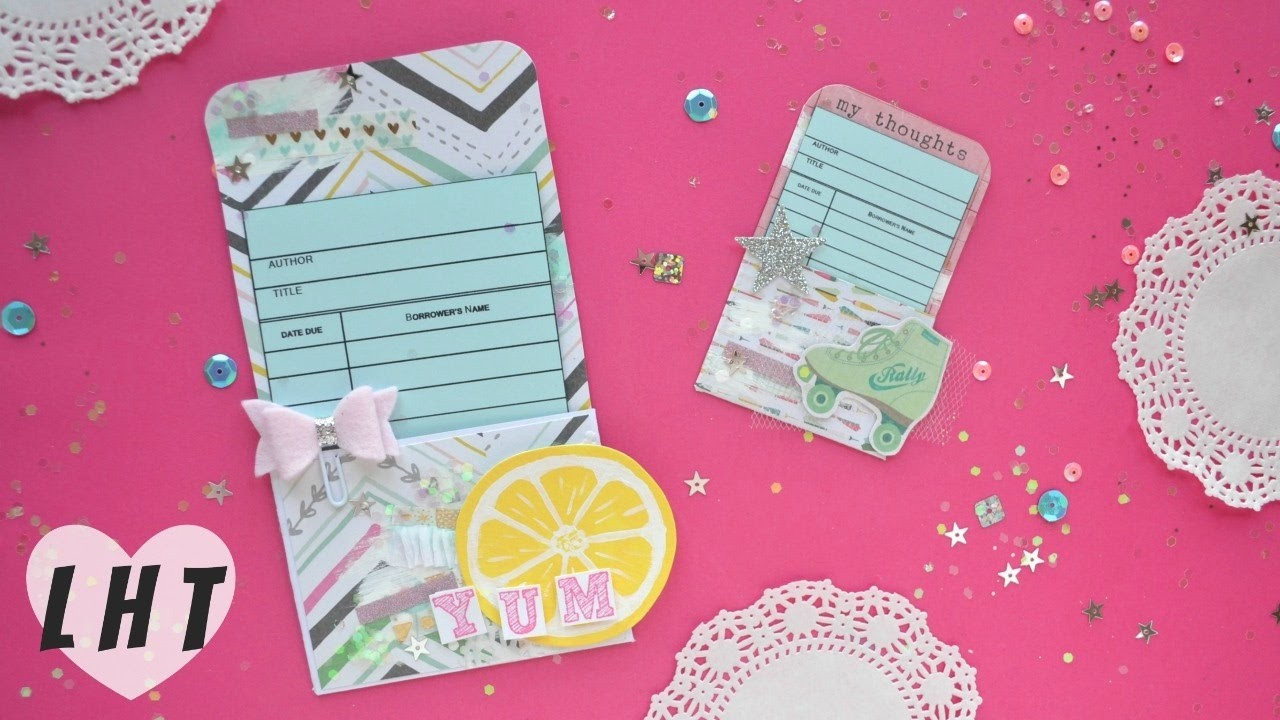How to Make Library Pockets - Build Your Stash - Free Printable Library Pockets - Little Hot Tamale