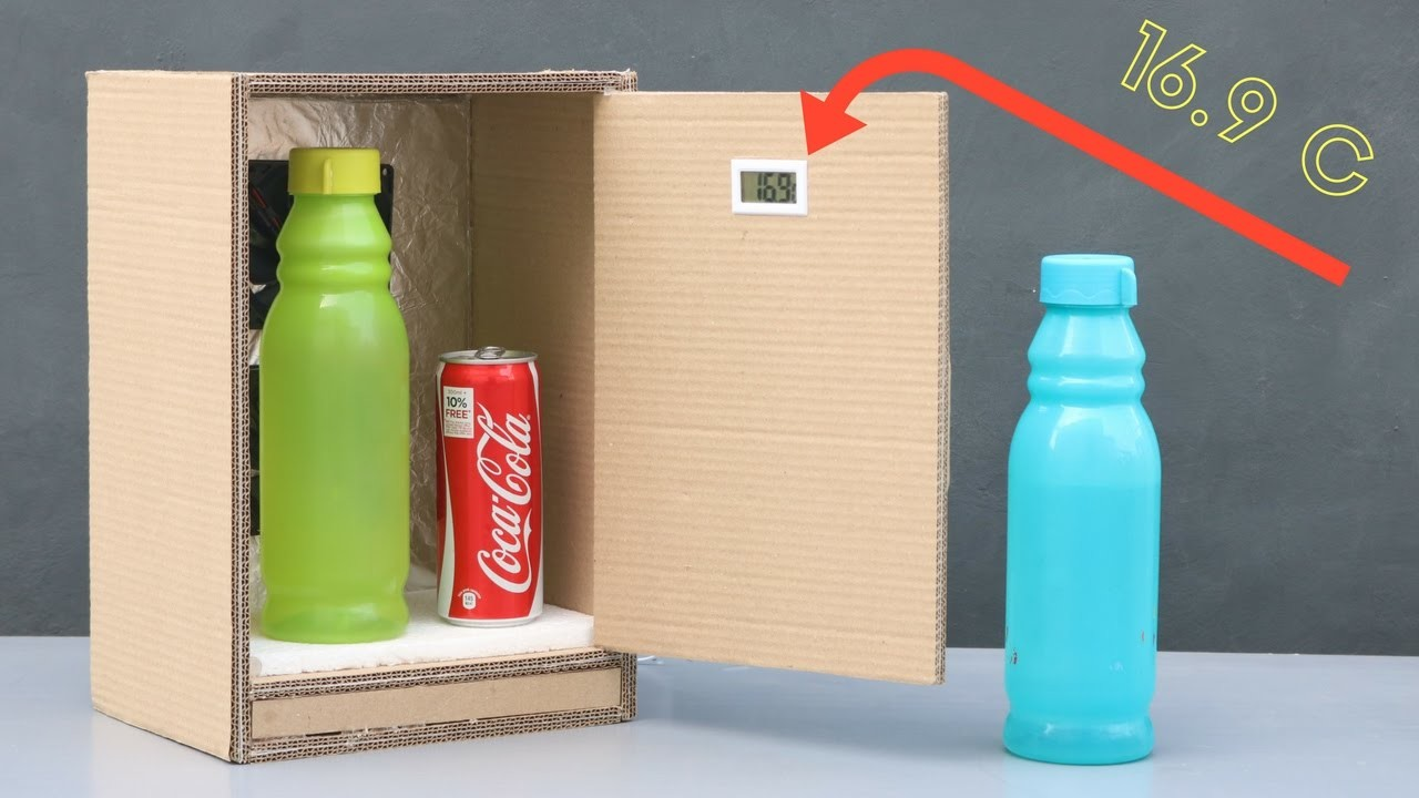 How to make mini refrigerator for coca cola my crafts and - How to make a small fridge ...