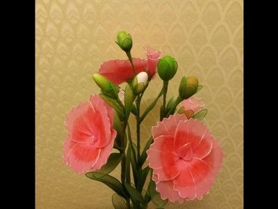 How to make nylon stocking flowers - Dianthus