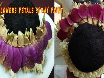 How to Make Orchid Lie Petal Garland Spray painting|Wedding Design Flowers Garland(ஸ்ப்ரே பெயிண்ட்)