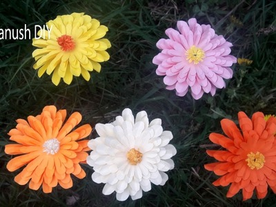 HOW TO MAKE PAPER FLOWERS STEP BY STEP. EASY PAPER FLOWER TUTORIAL