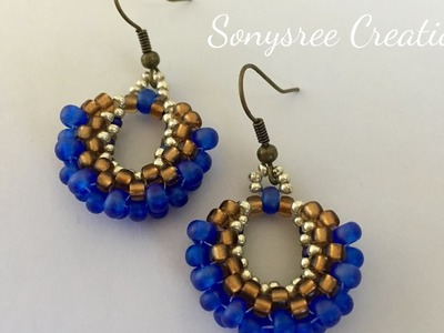 How to make peyote hoop earrings 3D earrings