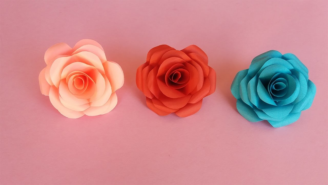 How To Make Realistic And Easy Paper Roses My Crafts And Diy Projects