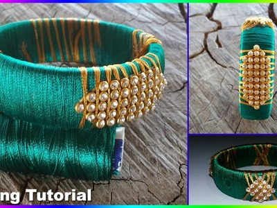 How to make simple and easy Silk Thread Bangle|Omni_trends