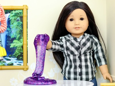 How to Make Slime With American Girl Doll Z!