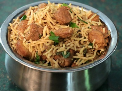How To Make Soya chunks pulav.Meal maker pulav recipe