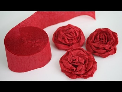 How to Make Twisted Crepe Paper Roses