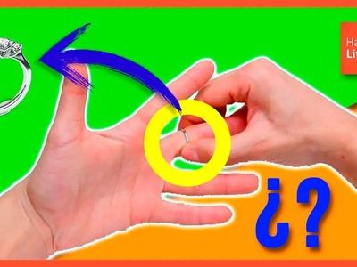 How to REMOVE a RING that GET STUCK in your FINGER * Cómo SACAR un ANILLO ATASCADO en el DEDO ✅