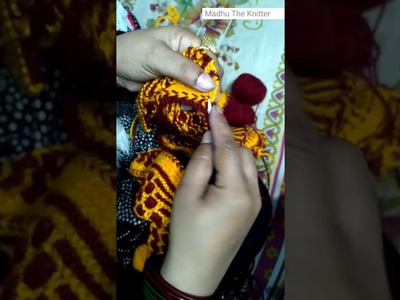 """Knitting Blouse for Ladies in Hindi - """"Half sleeves designer sweater"""" Madhu The Knitter part 9"""