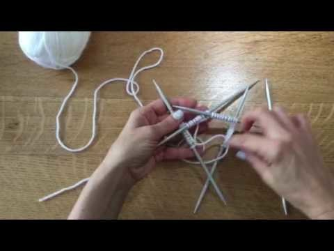 how to use double pointed needles
