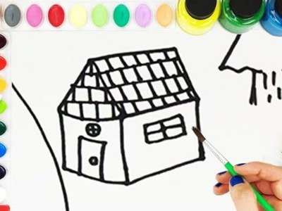 Learn How To Draw And Paint A Woods Scene | Learn How To Draw And Paint | Fun Kids Painting Video