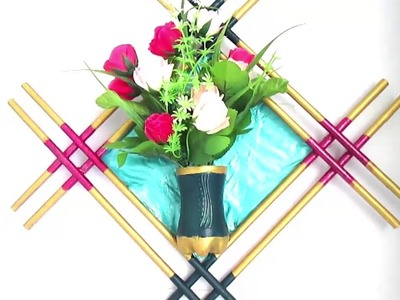 Newspaper  Flower Vase| Wall Decor| | DIY newspaper crafts | Best out of Waste | Wall Hanging