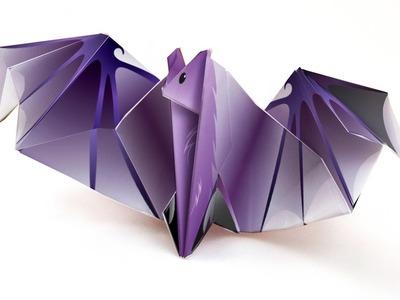 Origami  Bat - Tutorial DecOrigami - How to make an origami bat