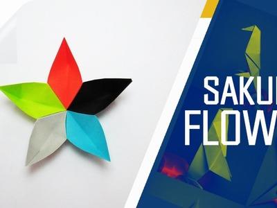 Origami - How To Make An Origami Sakura Flower