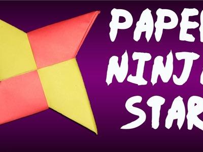 PAPER NINJA STAR - How to Make a Shuriken Origami