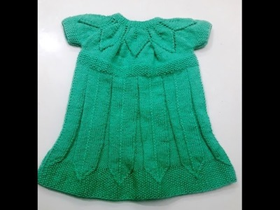 Part 1 - knitting frock in leaf pattern - easy step by step tutorial