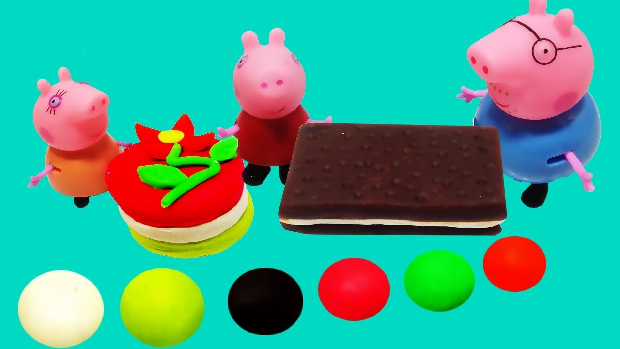 Play Doh Cake Frozen! - How to make cake playdoh for Peppa pig videos toys