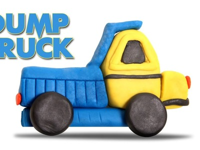 Play Doh Dump Truck | Learn Construction Vehicles For Kids  | How To Make Construction Vehicle