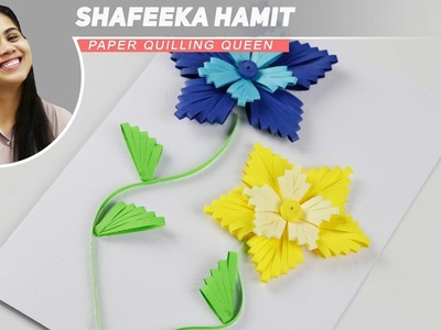 Quilling flowers using a comb - How To Make Paper quilling