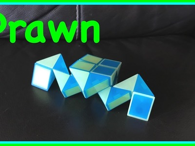 Rubik's Twist or Smiggle Snake Puzzle Tutorial: How to Make a Prawn Shape Step by Step