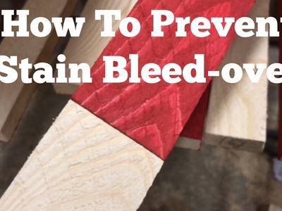 Rustic American Stained Flag. How To Prevent Bleed-over