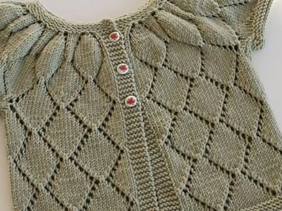 Simple design for woolen sweater for kids or baby in hindi - knitting design pattern