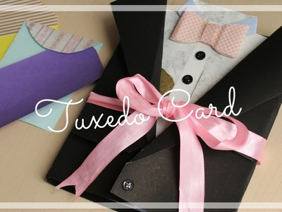 Suit-Tuxedo Scrapbook for Father's Day   Easy DIY Card Idea