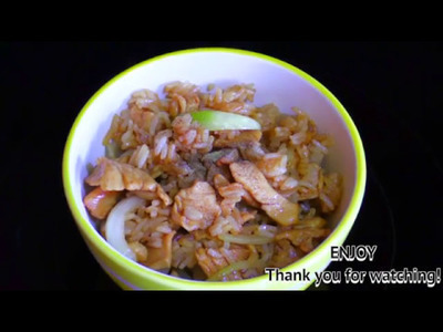Thai Food Part 14 : Rice with Chicken : How to Make Thai Food at Home