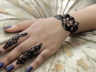 كيف ترسمين حناء راقيةعلى يدك ❤جديد2017 #2 | How To Make Henna